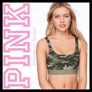 PINK VICTORIA'S SECRET ULTIMATE SCOOP SPORTS BRA